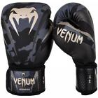 NEW VENUM BOXING GLOVES IMPACT CAMO GREY/GOLD MADE IN THAILAND
