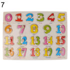 8 Patterns Wooden Peg Jigsaw Puzzles Baby Toddler Educational Toy Gift US Stock