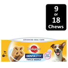 Pedigree Dentastix Twice Weekly Dog Treats For Small Dogs In 9 Or 18 Chews