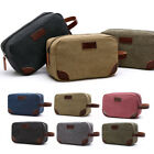 Mens Canvas Portable Toiletry Bags Travel Wash Shower Bag Cosmetic Bag Organizer