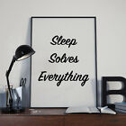 Sleep Solves Everything - Motivational Typography Poster Print