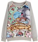Uget Women's Long Sleeve My Neighbor Totoro Sweatshirt Pullo