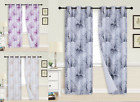 Floral Print Thermal Blackout Room Darkening Window Curtain, 1 Set FLORAL 84""