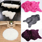 US Fluffy Faux Fur Sheepskin Rugs Non-Slip Bedroom Home Shaggy Carpet Chair Mat