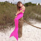 Mermaid Tail Swimmable Tail Kids Girls Swimwear Bathing Swimsuit Cosplay Costume