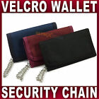 Mens Boys Trifold Sports WALLET with Security chain Canvas Black Navy Red