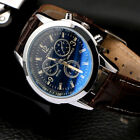 Military Leather Stainless Steel Quartz Analog Army Men's Cute Wrist Watches