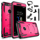 Shockproof Hybrid Rugged Rubber Protective Case Cover For ZTE Blade Z MAX / Z982
