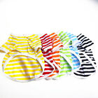 Summer Stripe Pet Puppy Small Dog Cat Clothes Vest T Shirt Apparel Size XS-XL