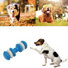 Dumbbell Pet Chew Toy Puppy Dog Teeth Gum Cleaning Training Play Toy Rubber