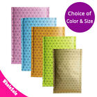 Multi-Color & Size Double-Sided Open Top Pouch Bags w/ Prism Pattern M40