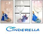 """Pearl Decorated Wine Glass With Disney """"CINDERELLA"""" Figure's can personalise"""