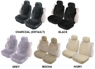 PAIR 16mm SHEEPSKIN WOOL FLEECE SEAT COVERS FOR MITSUBISHI STARION RWD COUPE