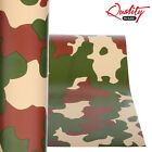 Forest Camo Vinyl Wrap / Matte Camouflage Decal Graphics / Air/Bubble Free UV+