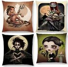 ICONS WOVEN CUSHION COVER PRINCESS LEIA WEDNESDAY SCISSORHANDS SKELLINGTON