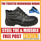 Chukka Safety Work Boots Leather Steel Toe Cap & Midsole Size 5-13 & OVERSHOES