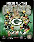 Green Bay Packers NFL All-Time Greats Stretched Canvas Photo