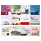 Wall Sticker Removable Art Words Family Quote Decal Home Decoration