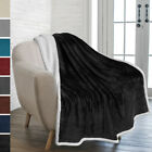 "Premium Sherpa Throw Blanket by Pavilia | 50"" x 60"" Reversible Microfiber Fleece image"