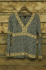 Willi Smith Print Top with Beading Size 10