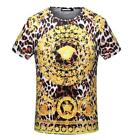 2018 New Hot Sale Men's Gold Circle Parrern Round Neck Short Sleeve  T-shirt