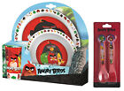 Angry Birds Movie Red Chuck 5pc Tumbler, Bowl, Plate Set & Cutlery Meal Time
