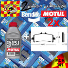 2x BENDIX 341-MCR & DOT5.1 BRAKE FLUID CARBON PADS KIT FITS MOTORCYCLES LISTED