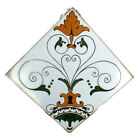 Vintage Ceramic Tile Italy Marked Colorful Bright Yellow Semigres Trivet