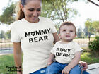 Mummy Bear Baby Bear Mum Son Daughter Mothers Day Family Matching T shirts Outfi