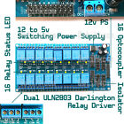 16-Channel 12v DC Isolated Relay Switch Module Smart Home Automation Ardiuno AVR