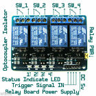 4-Channel 5v DC Isolated Relay Switch Module Smart Home Automation Ardiuno AVR