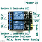 2-Channel 5v DC Isolated Relay Switch Module Smart Home Automation Ardiuno AVR