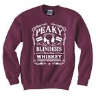 "PEAKY BLINDERS INSPIRED ""WHISKEY LOGO"" SWEATSHIRT"