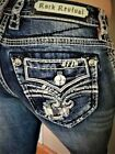 NWT New Womens Rock Revival Raven Skinny Denim Jeans 25 26 27 28 29 30 31 32 34