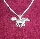 Horse pendant  with silver necklace