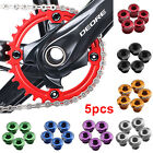 New 5pcs Alloy Cycling Aluminum Single Crank Chain Ring Bolt Fit for Bicycle UK