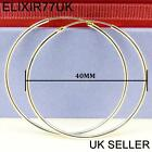 925 STERLING SILVER HOOP SLEEPER EARRINGS 8- 50mm SMALL LARGE NOSE SET BALL RINGPrecious Metal without Stones - 164319