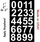 Sheet of Vinyl Custom Street Address Mailbox Number Decal St