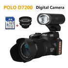 POLO D7200 HD 1080P Digital Camera DSLR Camcorder 24X Zoom +Telesope Lens+32GB