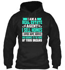 Real Estate - I Am A Agent Sell Homes Offer Hope, Gildan Hoodie Sweatshirt