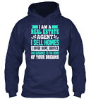 Printed Real Estate - I Am A Agent Sell Homes Offer Gildan Hoodie Sweatshirt