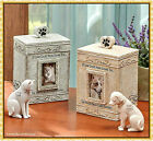 Angel Dog Cat Pet Memorial Statue Figurine or Cremation Urn Cemetery Grave Stone