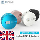 2.1A Retractable 2 in1 Micro USB Data Sync Fast Charger Cable Lead for iPhoneX 8