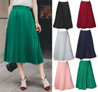 Womens Sexy Thick Pleated High Quality Pleated Calf Length Thick Breathble Skirt