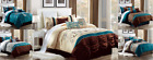 LUXURIOUS DUVET COMFORTER BED COVER 3PC SET BEDROOM MODERN DECOR SUPER COMFORT