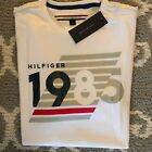 Tommy Hilfiger T-shirt Mens Graphic Tee Large Flag Logo Crew Neck Short Sleeve image