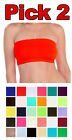 PICK TWO Basic Colors Stretch Strapless Layering TUBE TOP BRA Plain BANDEAU