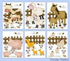 Внешний вид - Farm Baby Nursery Prints Wall Art Barnyard Animals KIds Room Decor Horse Sheep