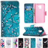 For Samsung Galaxy A8 2018/S9/J5 Pro Flip Painted Wallet Leather TPU Case Cover