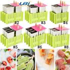 6 Molds Stainless Steel Ice Cream Pop Mould Lolly Popsicle + 50Pcs Stick Holder